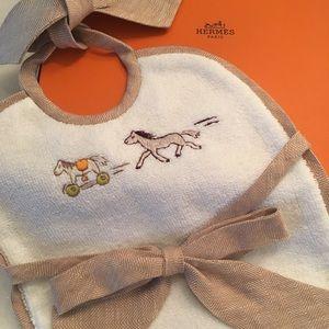Hermes Baby Bib- NEW